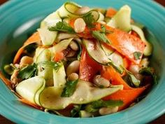 ▶ Sunny Anderson's Salmon and Zucchini Lemon Dijon Salad - YouTube