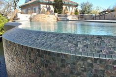 One of the local pools we've worked on here in Northern California's Bay Area -- beautiful tile work! Swimming Pool Repair, Swimming Pools, Aqua Pools, Northern California, Bay Area, The Locals, Tile, Gallery, Outdoor Decor