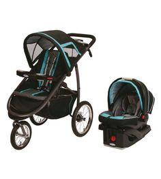 Graco FastAction™ Fold Jogger Click-Connect Travel System in Tidal Wave - Jogger/Trainer Stroller - Canada's Baby Store