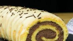 "Rulada ""Regina serii""- prepara cea mai pufoasa si fina rulada Delicious Deserts, Mai, Rolls, Cookies, Breakfast, Recipes, Food, Sweets, Romanian Recipes"