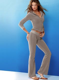 terry flare pant