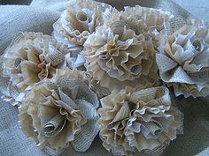 Book page *and* coffee filter flowers.