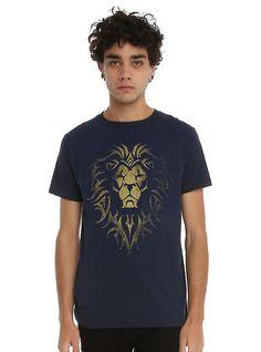 Warcraft Alliance Logo T-Shirt, NAVY