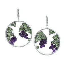 Martin Katz Amethyst and Diamond grape earrings. Photo courtesy of Martin Katz.
