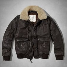 Mens Pine Point Trail Leather Aviator Jacket