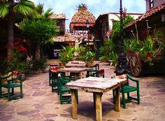 Looks of old Mexico. Plaza Pueblo in Rosarito Beach, Baja California Rosarito Mexico, Rosarito Beach, Ensenada Mexico, Mexico Vacation Destinations, Vacation Spots, Baja California, Mexico Travel, Beach Photos, Spanish Style