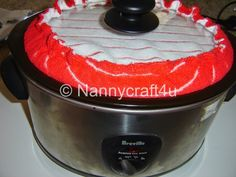 Slow cooker lid teatowel tutorial