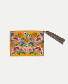 ZARA - WOMAN - WALLET WITH EMBROIDERED FLOWERS