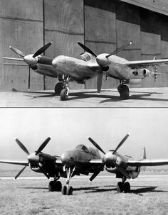 failed Lockheed P-38 Lightning evolutions: the XP-49 and XP-58 Chain Lightning  (via the Bill Pippin and Ray Crupi collections on 1000aircraftphotos)