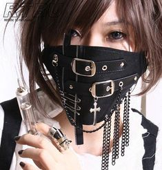 Silent Killer Gothic Punk Buckle Strap Appliqued by runnickyrun