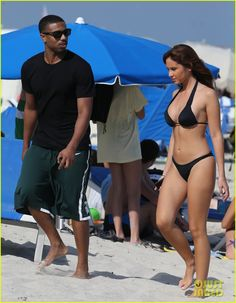 January 24, 2014:  Michael B. Jordan: Shirtless Beach Stroll with Mystery Girl! | michael b jordan shirtless beach stroll with mystery girl 06 - Photo