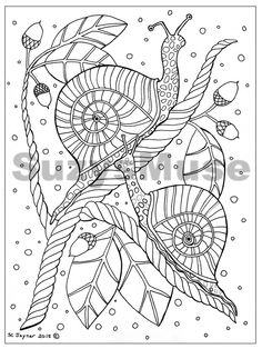 Adult Coloring Book Page Digital Weekly Subscription Service by Suzysmuse — Kickstarter