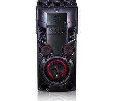 Buy LG LOUDR OM5560 Wireless Megasound Hi-Fi System - Black, Black Price: £249.99 Top features: - Big, high-quality sound and party lighting with 500 W of power - Versatile playback from CD, USB and aux-in - Stream music wirelessly from your devices with Bluetooth - TV Sound Sync gives you more from your TV and saves clutter - Get the party started and sing along with Karaoke Star Big,...