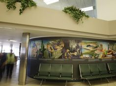 Cameco Airport Mural German, Creative, Painting, Home, Deutsch, German Language, House, Painting Art, Paintings