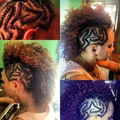 My work braided Mohawk Braided Mohawk, Mohawk Hairstyles, Cut And Color, Braids, Hair Cuts, Dreadlocks, Hair Styles, Beauty, Gallery