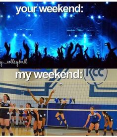 Being a volleyball player means you have no free weekends. Source by Arianaluvspanda Volleyball Problems, Funny Volleyball Shirts, Volleyball Practice, Volleyball Training, Volleyball Workouts, Coaching Volleyball, Funny Volleyball Pictures, Volleyball Hair, Volleyball Facts