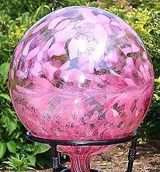 Afbeeldingsresultaat voor gazing ball pink