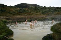Hotsprings near Vegghellir cave Iceland & self-drive tour site, recommended via reddit