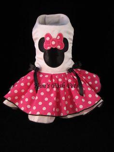 Vestido de Minnie Mouse Vestido de perro _ Tutu de por KimsPoshPets