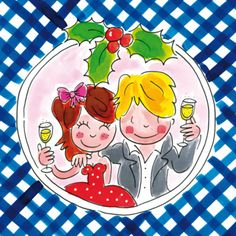 Koppel toost op Kerstmis en Nieuwjaar - Greetz