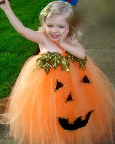 This has to be the cutest pumpkin costume I have ever seen.