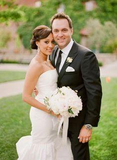 Tamara Mowry & Cory Hardrict, Caroline Herrera wedding gown.