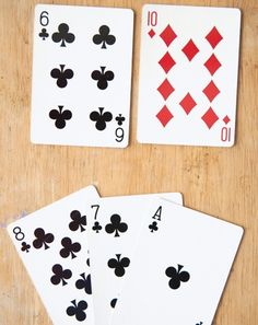 Activities: What's Your Problem? Math Game with a deck of cards.