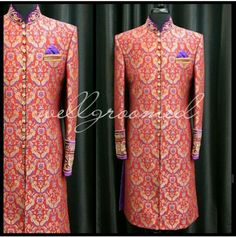 Brocade groom outfit by Well Groomed