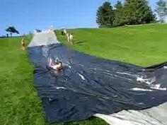 The biggest slip n slide in UTAH period. Slip N Slide, Utah, Period, Golf Courses, Backyard, Youtube, Patio, Backyards, Youtubers