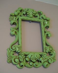 I love old frames that you can spray paint!