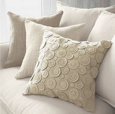 Knock off of this Crate & Barrel pillow. Yet one more cool idea to think of for redecorating the master bedroom.