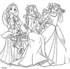 dibujos para colorear de princesas disney todas juntas  Libros