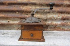 Great Old Fashioned Antique Coffee Mill by TheOldTimeJunkShop, $135.00