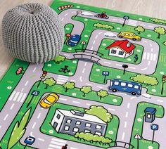 "Covor pentru copii din PE ""Soft Traffic"" Multicolour, 100 x 150 cm Kidsroom, Cars And Motorcycles, Interior Design, Children, Champion, Inspiration, Home Decor, Bedroom Kids, Nest Design"