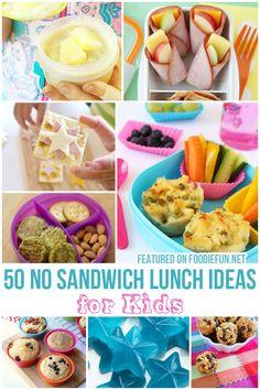No Sandwich Lunch Ideas For Kids - Foodie Fun