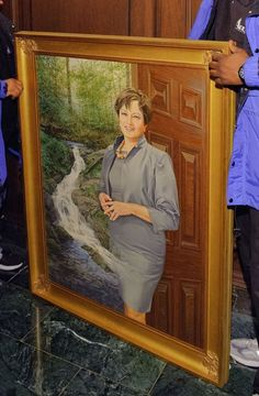 Lisa Jacksons Official Portrait: Im Guessing Thats a Watercolor? | National Review