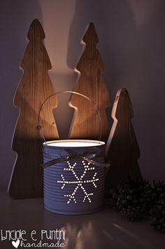 Lanterna Natalizia da riciclo barattoli in latta - Tutorial in Italiano.