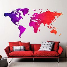 World map outlines wall decal continents decal large world world map outlines wall decal continents decal large world map vinyl world map wall sticker skuwomaouwi outlines vinyl wall stickers and gumiabroncs Gallery