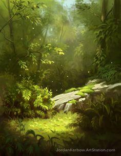 Quiet Forest by JordanKerbow on DeviantArt - Quiet Forest by JordanKerbow on DeviantArt Effektive Bilder, die wir über landscaping house anbie - Fantasy Art Landscapes, Fantasy Landscape, Landscape Art, Landscape Paintings, Illustration Fantasy, Forest Illustration, Landscape Illustration, Fantasy Background, Forest Background