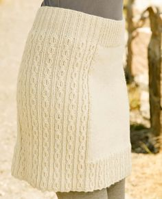 Knitting pattern skirt with cable tracery  all sizes by ecocrochet, $4.99
