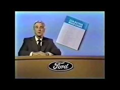 Leslie Nielsen presents the 'Car Buying Made Easier' book from the Ford Motor Company. Commercial aired November, 1972.