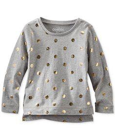 Osh Kosh Little Girls' or Toddler Girls' Foiled Dot Tee