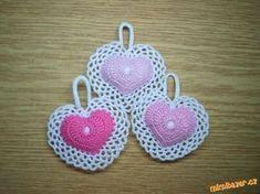 Dle předlohy. <br>Háčkovala jsem z balvnky na vyšívání - Perlovky a vycpaná jsou srdíčka vatou.<br>T... Crochet Earrings, Crochet Patterns, Sewing, Knitting, Crochet Hearts, Jewelry, Crocheting, Hearts, Tejidos
