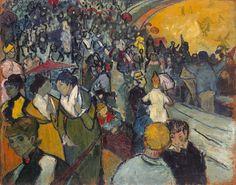 """""""Les Arènes"""", pintura em óleo sobre tela de 1888 de Vincent van Gogh.  Veja também: http://semioticas1.blogspot.com/2015/09/arte-no-bordel.html"""