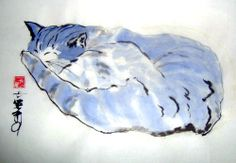 Blue Sleeping Cat.