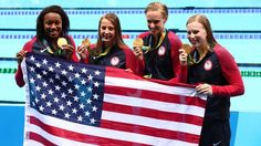 The U.S. claimed gold medal No. 1,000 with a win in the women's 4x100-meter medley