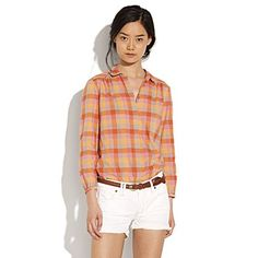 madewell checked pemberley shirt