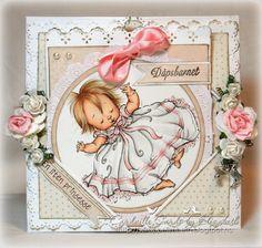 Baptism card for a girl...precious!!!