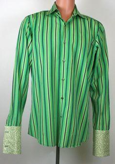 Banana Republic Regular L Cotton Casual Shirts for Men Cool Shirts For Men, Casual Shirts For Men, Men's Shirts, Green Shirt, Neon Green, Banana Republic, Long Sleeve Shirts, Cool Designs, Buttons