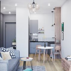 10 Great Small Kitchen Design Ideas – Little Piece Of Me Studio Apartment Design, Small Apartment Interior, Small Apartment Kitchen, Flat Interior, Studio Interior, Interior Design, Tiny House Loft, Modern Tiny House, Small Apartments